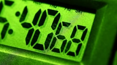 Digital Timer LCD Display in action - stock footage