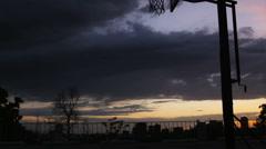 WS TU Man playing basketball / Salt Lake City, Utah, USA. Stock Footage