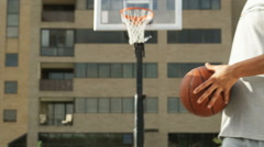 MS Man shoving basketball into competitor's chest / Salt Lake City, Utah, USA. Stock Footage