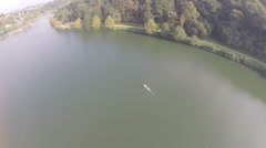 2,7k aerial view of Stand up in a lake 2 Stock Footage