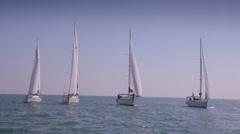 Sailing Yacht Regatta Stock Video Stock Footage