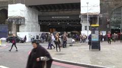 Outside London Bridge Station Stock Footage