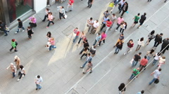 People on the Istiklal street in Istanbul Stock Footage