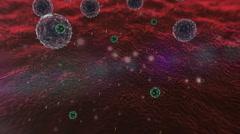 Lymphocyte, virus Stock Footage