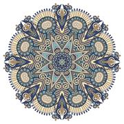 Mandala, circle decorative spiritual indian symbol of lotus flow Stock Illustration
