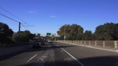 Sacramento, locations ,12 ST, arriving from north Stock Footage