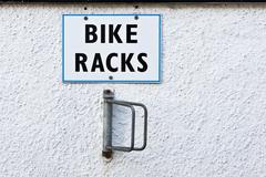 bike racks - stock photo