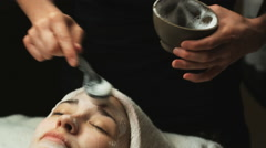 Woman getting a spa treatment Stock Footage