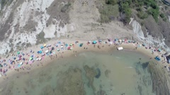 Scala dei Turchi Aerial video of the beach Stock Footage