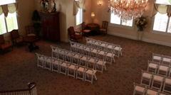 The empty wedding reception room Stock Footage