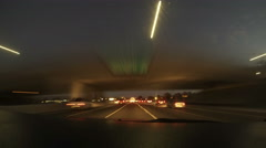 Freeway Night Time-lapse - stock footage