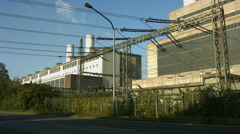 Lignite-fired power plant Frimmersdorf, Germany Stock Footage