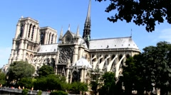 Notre Dame de Paris Cathedral Stock Footage