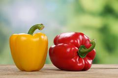 Red pepper or paprika in summer with copyspace Stock Photos