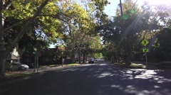 Sacramento, locations, quiet neighborhood Stock Footage