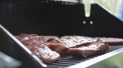 bbq grill close up - stock footage