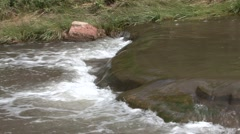 River & Stream Western Region Summer Stream Falls River Rapids Zoom Out Stock Footage