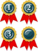 Award ribbons collection isolated on white background Stock Illustration