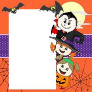 Childs with halloween costumes Stock Illustration