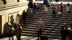 European stairway Stock Footage