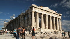 The Parthenon in Athens Stock Footage