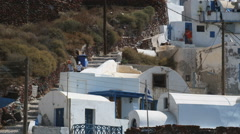 Rooftops in Greece Stock Footage