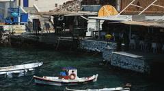 Greek harbor Stock Footage