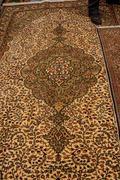 Kayseri buyun rug  in a carpet showroom in  cappadocia, turkey Stock Photos