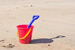 Bucket and spade Stock Photos