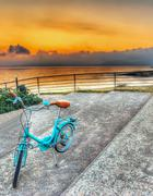 Stock Photo of bicycle at dusk