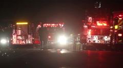 Fire Scene Radio Traffic Stock Footage