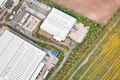 warehouses - stock photo