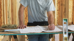 Home builder Stock Footage