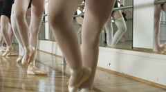 ballerinas in a dance studio - stock footage