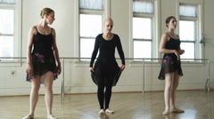 Dance instructor giving a lesson Stock Footage