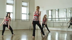 Dancers in a dance studio Stock Footage