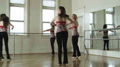 dancers in a dance studio - stock footage