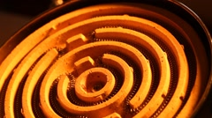 Close up of a heating element Stock Footage