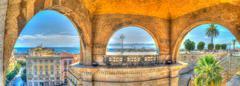 three arches - stock photo