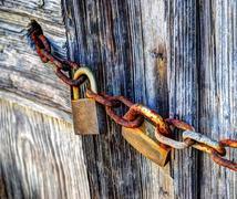 Stock Photo of padlocks and chain