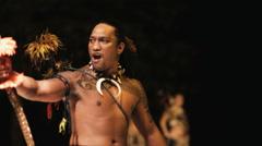 Pacific islander cultural dancer Stock Footage