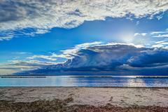 Stock Photo of dramatic sky in alghero