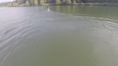 2,7k aerial view of Stand up in a lake 4 Stock Footage