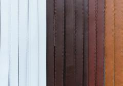 Colorful of trouser leather belt Stock Photos