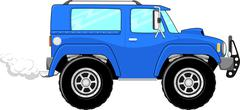 Suv cartoon Stock Illustration