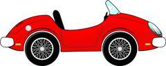 Red convertible car cartoon Stock Illustration