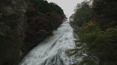 Yudaki infront wide angle, non color graded Full HD (1920x1080) Stock Footage