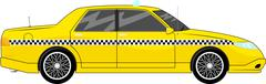Illustration of generic yellow taxi car isolated on white background Stock Illustration