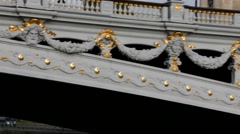 Beautiful bridge of Alexandre III.Detail.  Paris Stock Footage