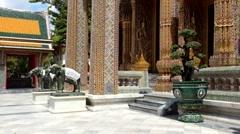 Wat rajabopit buddhist in bangkok thailand Stock Footage